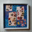 blue flower/330 x 330mm/アクリル絵具/木製パネル/タイルフレーム