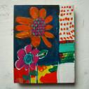 flower/140 x 180mm/アクリル絵具/木製パネル